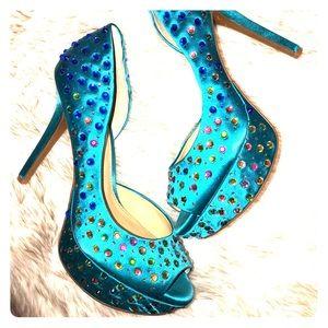 Gianni Bini sz 9.5 Peep toe heel
